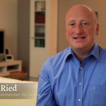 Cölbe Bürgermeister - Dr. Jens Ried Danksagung Wahl 2018